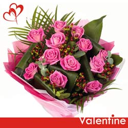 gift online bunch of pink roses to belgaum