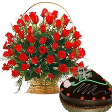 with all my love beautiful rose basket